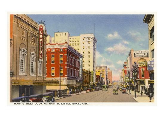 Main Street, Little Rock--Art Print