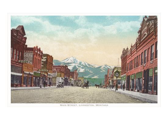 Main Street, Livingston, Montana--Art Print
