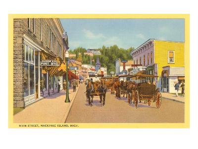 Main Street, Mackinac Island, Michigan--Art Print