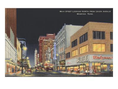 Main Street, Memphis, Tennessee--Art Print