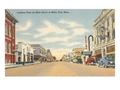 Main Street, Miles City, Montana--Art Print
