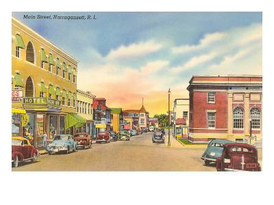 Main Street, Narragantt, Rhode Island--Art Print