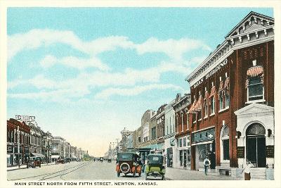 Main Street, Newton--Art Print