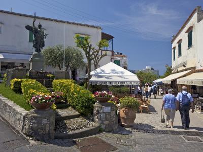 Main Street of Anacapri in Early Morning Summer Sunshine, Isle of Capri, Campania, Italy, Europe-Peter Barritt-Photographic Print
