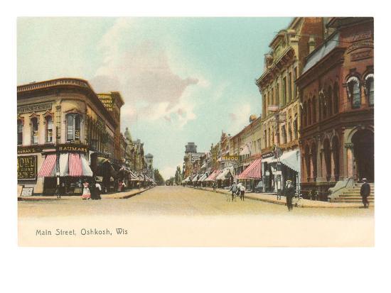 Main Street, Oshkosh, Wisconsin--Art Print