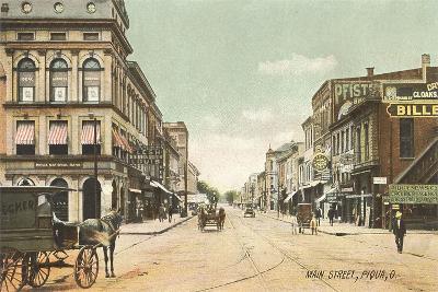 Main Street, Piqua--Art Print
