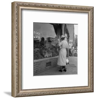 Main Street, Pittsboro, North Carolina-Dorothea Lange-Framed Art Print