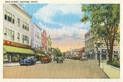 Main Street, Sanford--Art Print
