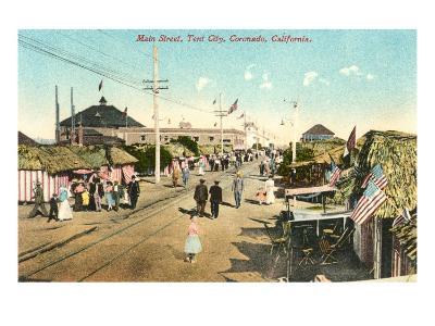 Main Street, Tent City, Coronado, California--Art Print
