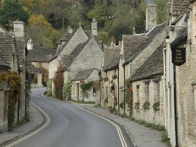 Main Street Through the Village of Castle Combe, Wiltshire, Cotswolds, England, United Kingdom--Photographic Print