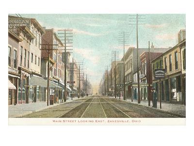 Main Street, Zanesville, Ohio--Art Print