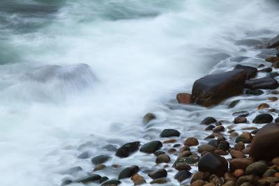 Maine, Acadia NP, Ocean Waves Breaking on Rocks Along Ocean Drive-Joanne Wells-Photographic Print
