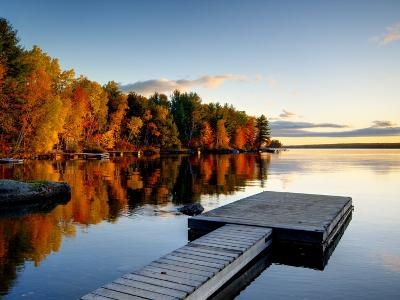 Maine, Baxter State Park, Lake Millinocket, USA-Alan Copson-Photographic Print