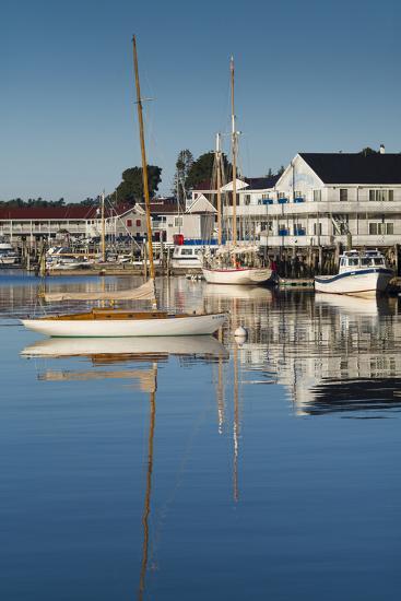 Maine, Boothbay Harbor, Harbor View-Walter Bibikow-Photographic Print