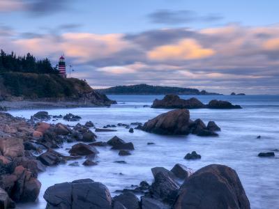 Maine, Lubec, West Quoddy Lighthouse, USA-Alan Copson-Photographic Print