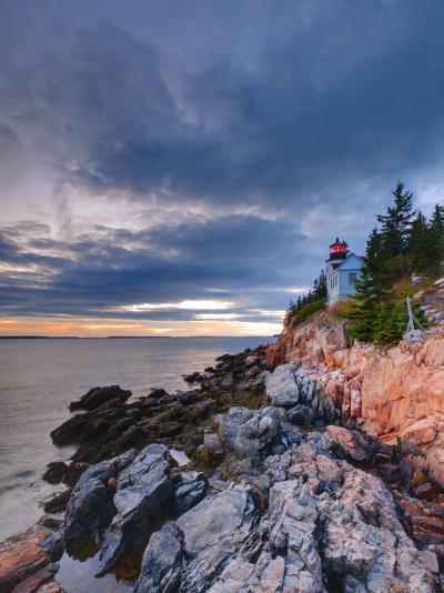 Maine, Mount Desert Island, Bas Harbor, Bas Harbor Lighthouse, USA-Alan Copson-Photographic Print