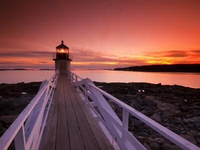 Maine, Port Clyde, Marshall Point Lighthouse, USA-Alan Copson-Photographic Print