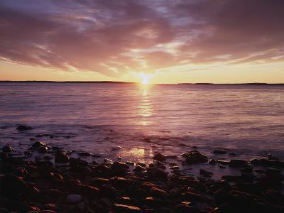 Maine, Sunrise over the Rocky Shoreline of the Atlantic Ocean-Christopher Talbot Frank-Photographic Print