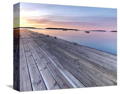 Maine Sunrise-Derek Jecxz-Stretched Canvas Print
