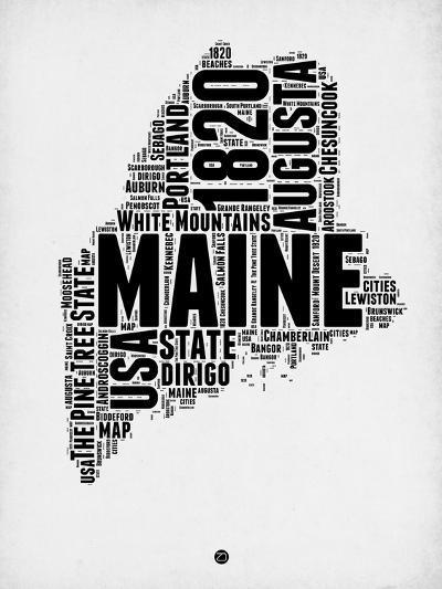 Maine Word Cloud 2-NaxArt-Art Print