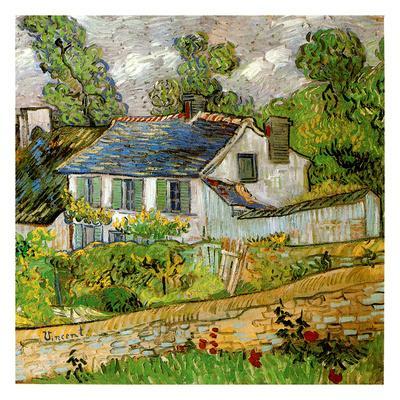 Maison a Auvers-Vincent van Gogh-Art Print