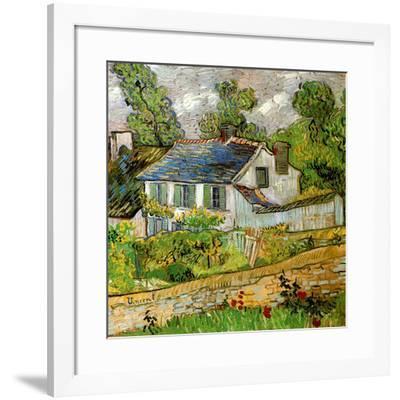 Maison à Auvers-Vincent van Gogh-Framed Art Print
