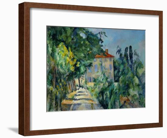 Maison Au Toit Rouge- House with a Red Roof, 1887-90-Paul Cézanne-Framed Giclee Print