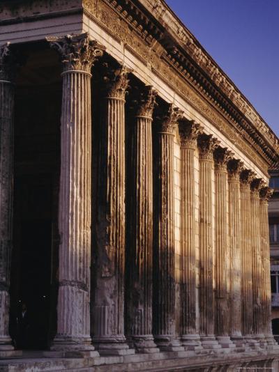 Maison Carre, Roman Building, Nimes, Languedoc, France, Europe-John Miller-Photographic Print