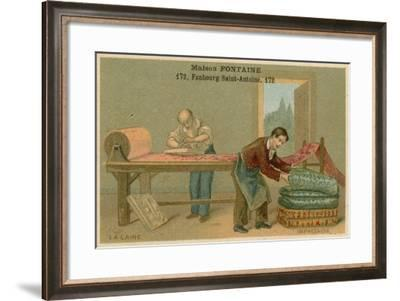 Maison Fontaine Trade Card, Wool Printing--Framed Giclee Print