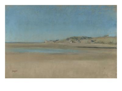 Maisons au bord de la mer-Edgar Degas-Giclee Print