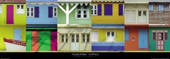 Maisons Créoles, Martinique-Roberto Scaroni-Art Print