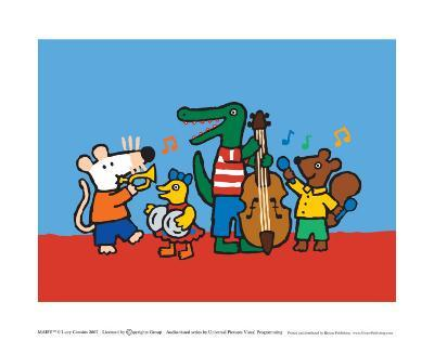Maisy and the Band-Lucy Cousins-Art Print