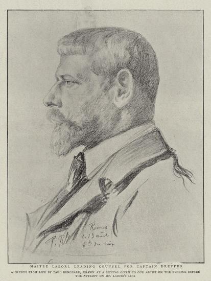 Maitre Labori, Leading Counsel for Captain Dreyfus-Charles Paul Renouard-Giclee Print