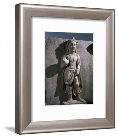 Maitreya, detail from a frieze, Gandhara, north-west Pakistan, 2nd-3rd century-Werner Forman-Framed Photographic Print