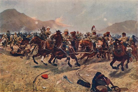 'Maiwand: Saving the Guns,' 1883 (1906)-Unknown-Giclee Print