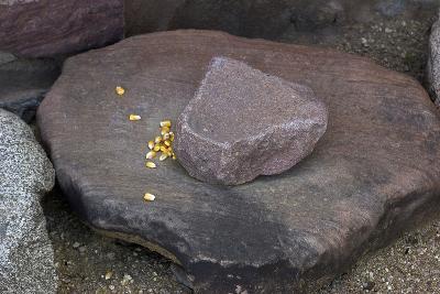 Maize Grinding Stones at Besh-Ba-Gowah Archaeological Park, circa 1225-1400 AD, Arizona--Photographic Print