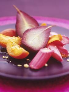 Poached Fruit (Pears, Rhubarb, Peaches) by Maja Smend
