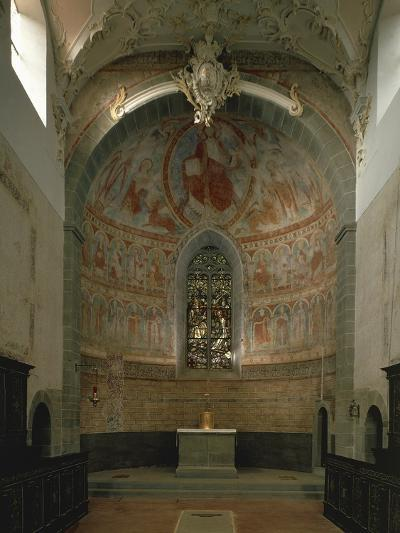 Majestas Christi, Fresco of Apse in St Peter and Paul's Church, Niederzell--Photographic Print