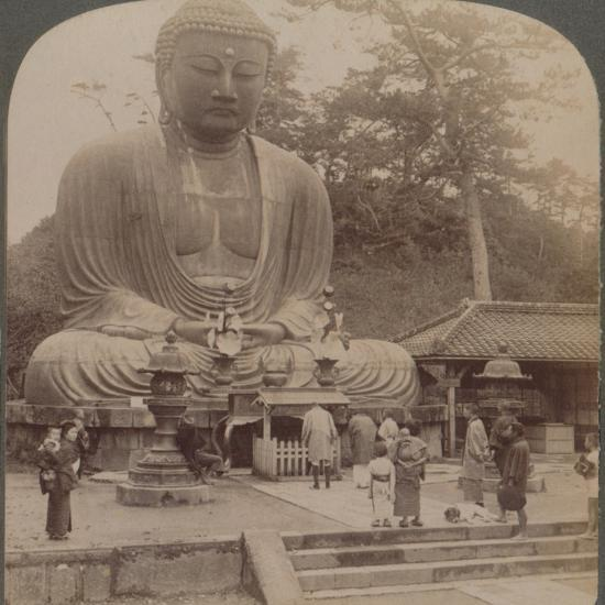'Majestic calm of the great bronze Buddha, reverenced for six centuries, Kamakura, Japan, 1904-Unknown-Photographic Print