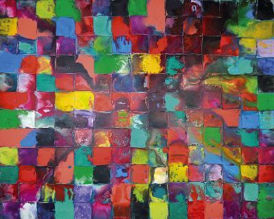 Majestic Mosaic-Caroline Ashwood-Giclee Print