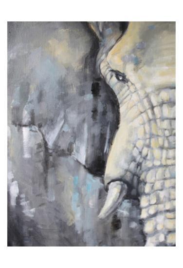 Majestic Pachyderm 1-Lena Navarro-Art Print