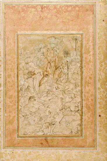 Majnun in the Wilderness, C.1595--Giclee Print