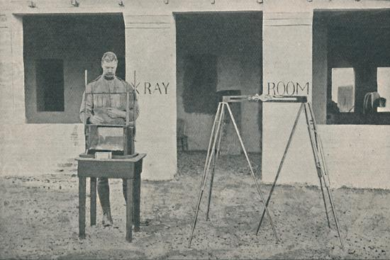 'Major Battersby using the Localizing Apparatus', c1890, (1910)-Unknown-Photographic Print