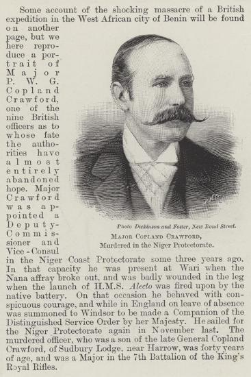 Major Copland Crawford, Murdered in the Niger Protectorate--Giclee Print