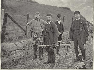 Major Fisher Hunting Grouse in Scotland--Photographic Print