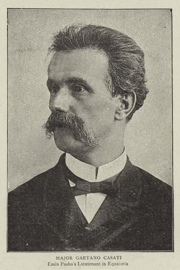 Major Gaetano Casati--Giclee Print