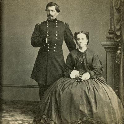 Major General George B. Mcclellan and His Wife- E. & H.T. Anthony-Photographic Print