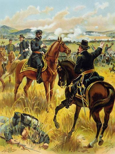 Major General George Meade at the Battle of Gettysburg on July 2nd 1863, 1900-Henry Alexander Ogden-Giclee Print