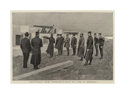 Major-General Miles, Commander-In-Chief, on a Tour of Inspection--Giclee Print