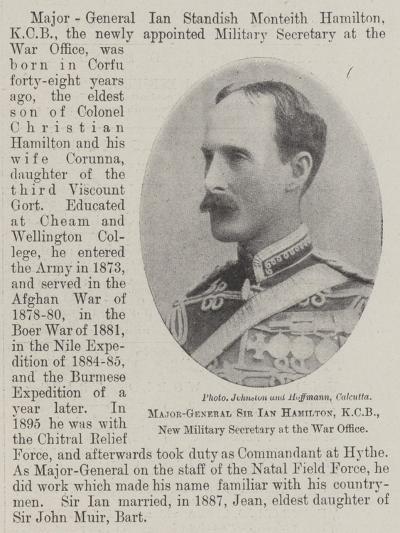 Major-General Sir Ian Hamilton, Kcb, New Military Secretary at the War Office--Giclee Print